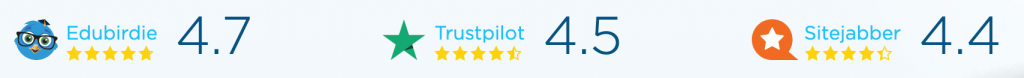 EduBirdie Trustpilot and Sitejabber review rating